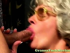 Horny granny using her hairy snatch