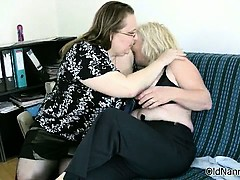Dirty blonde granny loves fucking a fat part6