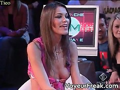A Nipple Slip On Italian Tv Voyeur Cam Part4