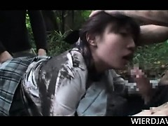 Teen Jap Girl Taken From School And Creampied In The Woods