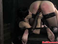 lezdom-busty-sub-gets-spanked-roughly