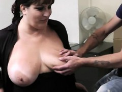 Busty Bitch Gets Slammed At Workplace