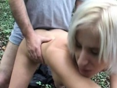 Blond Teen Babe Fuck An Old Guy Outdoors