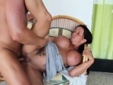 German Mother seduce her Step-Son to fuck after bath