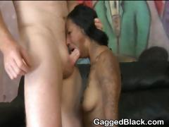Black Amateur Ghetto Slut Gets Choked With Cock