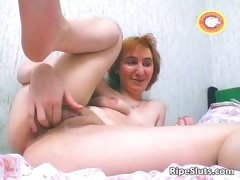 Horny Redhead Milf Slut Rubbing Cunt Part5