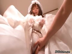Sexy Japanese Cosplay Bride Showing Her Part4