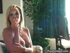 Sexy nasty hot body blonde babe smokes part5