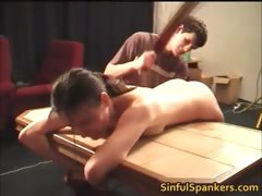 Brunette hottie gets ass spanked until part1