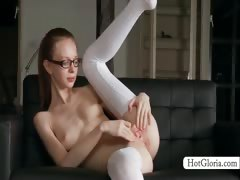 hot-gloria-in-glasses-spreading-her-pink-cunt-hole